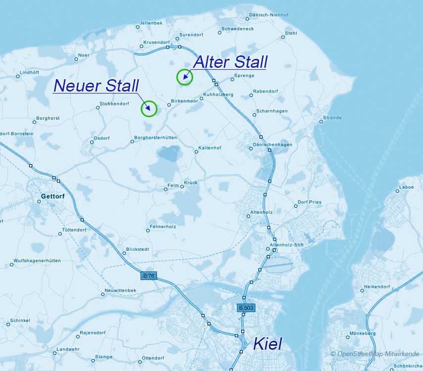 Kieler Bucht Karte.Anfahrt Hof Buchholz